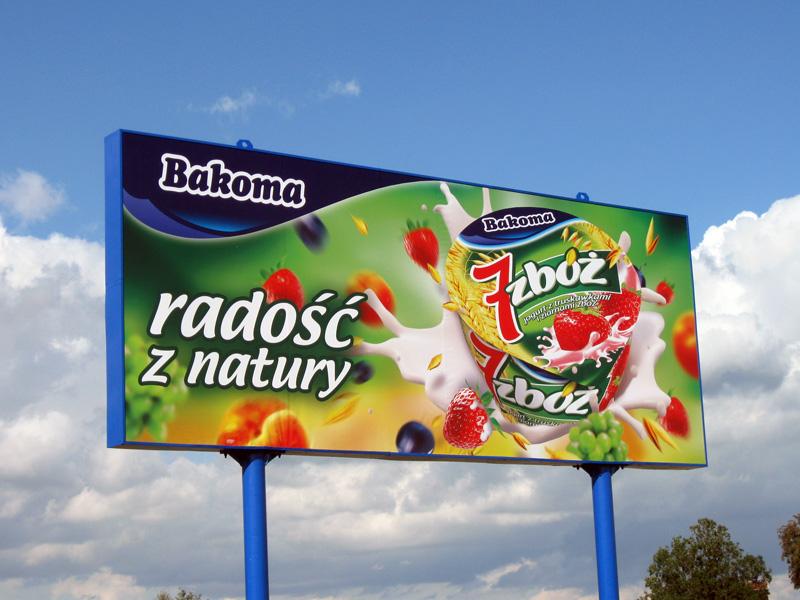Bilbordy reklamowe Bakoma