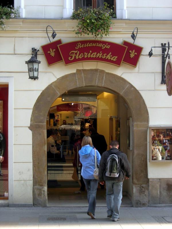 Oznakowanie firm Restauracja Floriańska