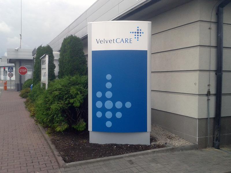 Pylony reklamowe Velvet Care